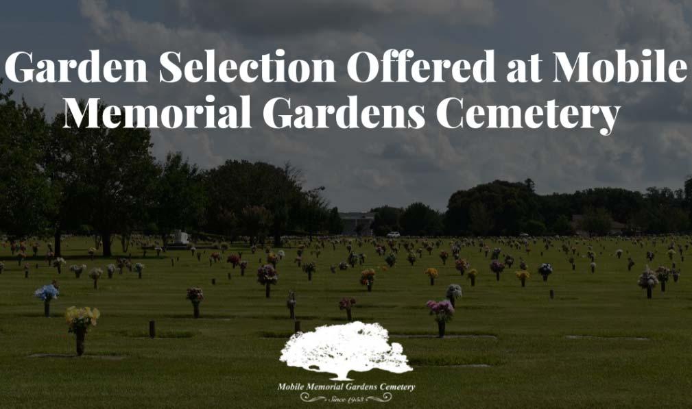 Garden Selection Offered at Mobile Memorial Gardens Cemetery