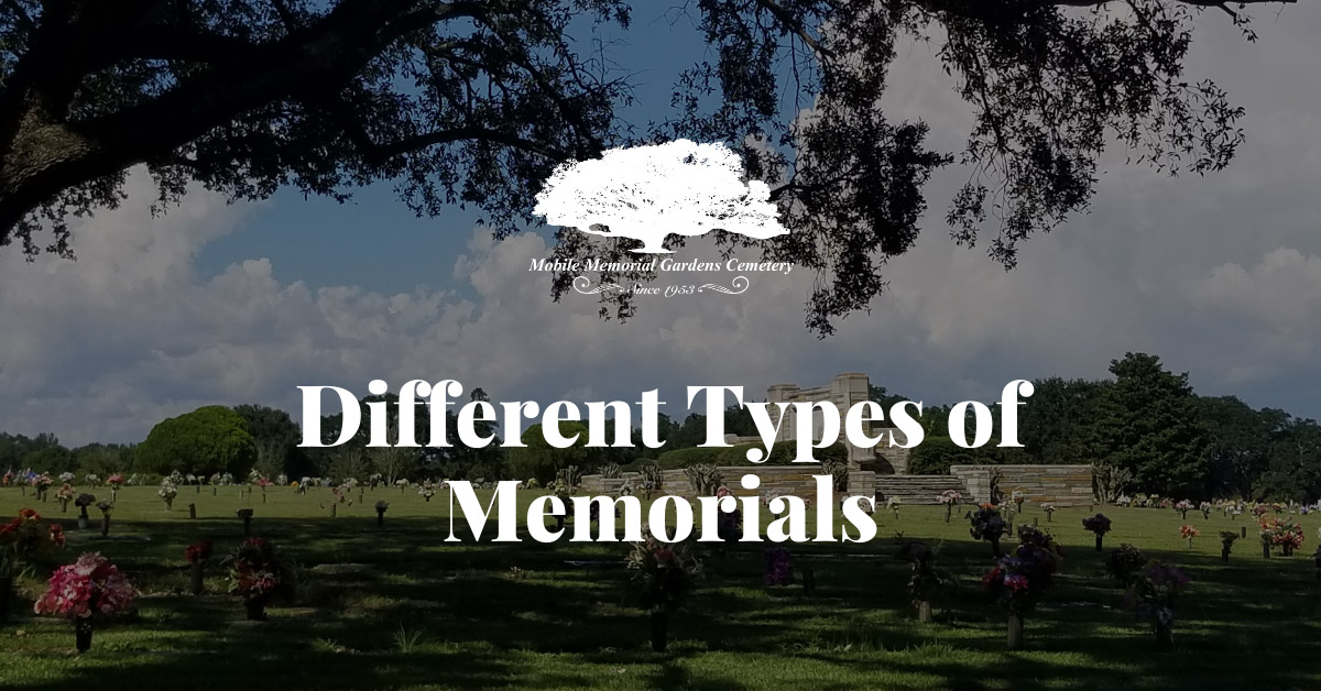 Different Types of Memorials