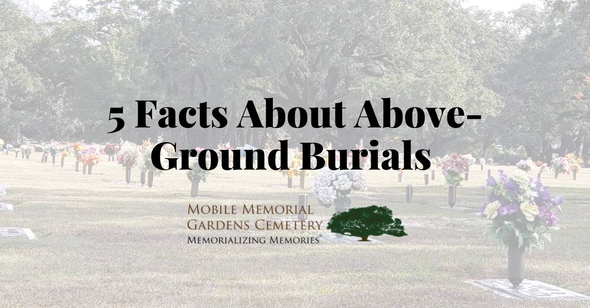 above ground burial