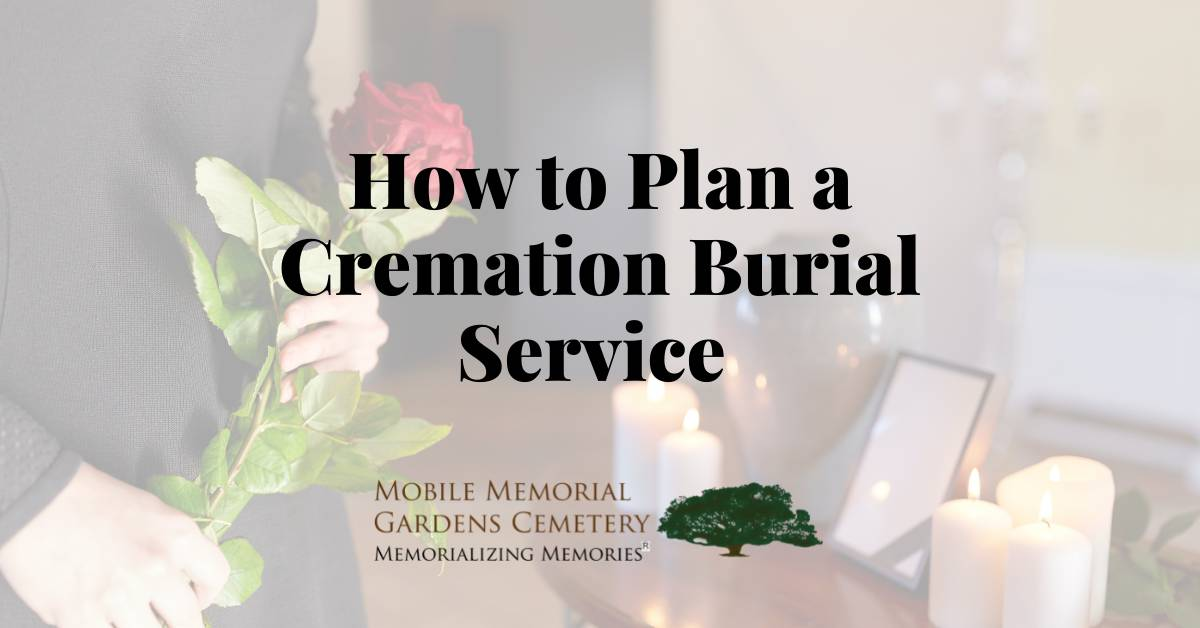 cremation burial service