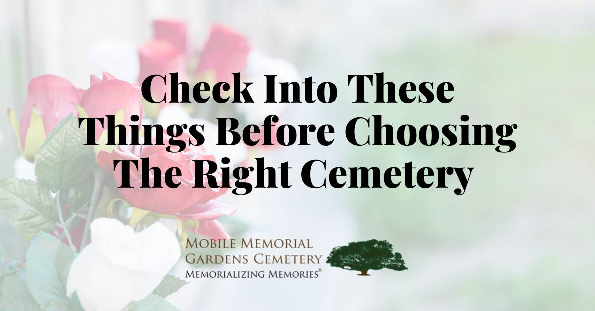 choosing the right cemetery